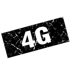 Square grunge black 4g stamp vector