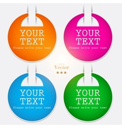 stickers and bookmarks vector image