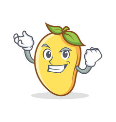 Successful mango character cartoon mascot vector