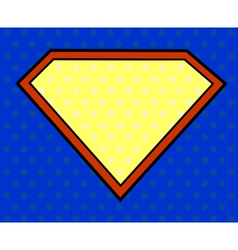 Super hero shield in pop art style vector image