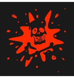 The symbol of the skull and blood vector