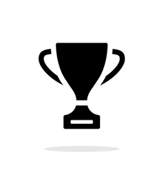 Trophy icon on white background vector image vector image