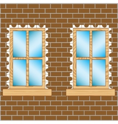 Window in wall vector image