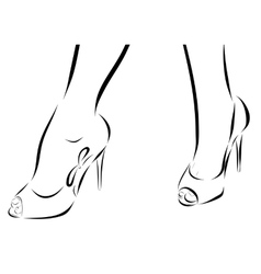 With legs of woman in fashion summer vector