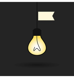 Idea a bulb2 vector image
