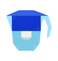 Carafe water filter flat icon object vector