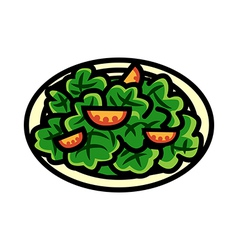 A salad is placed vector image