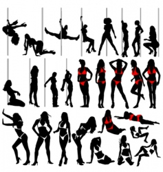 sexy women and striptease vector image