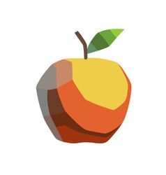 stylized apple vector image