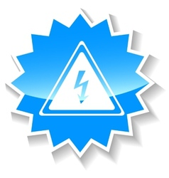 Voltage blue icon vector