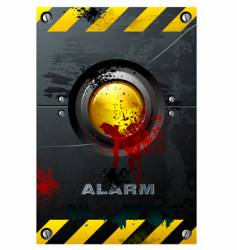yellow button vector image