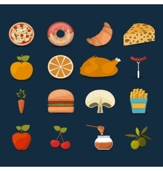 Food set icons design vector