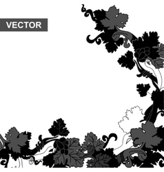 Grapevine black vector image