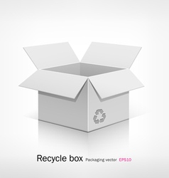 Recyele white box vector
