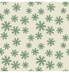 Flower pastel green seamless pattern vector