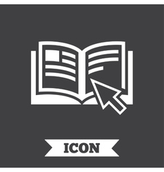 Instruction sign icon manual book symbol vector
