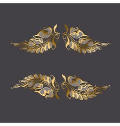 Art nouveau style decor element vector