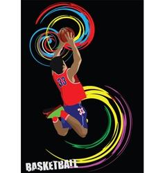 Basketball silhouettes vector