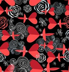 Bright festive pattern to the day of valentine vector