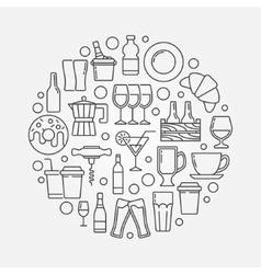 Cafe and bar circular vector