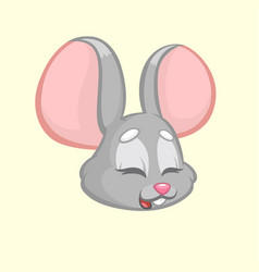 cartoon funny mouse vector image vector image