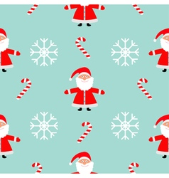 Christmas snowflake candy cane santa claus wearing vector