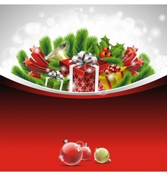 christmas theme with gift boxes vector image vector image