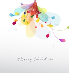 Christmas with abstract colorful flower vector image vector image