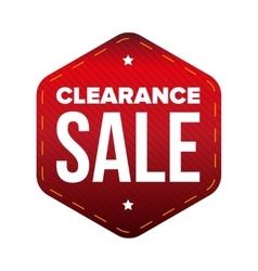 Clearance sale patch vector