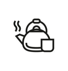 coffee kettle icon on white background vector image