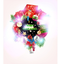 Colorful Christmas Greeting Card vector image vector image