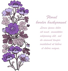 Floral bush retro on white background hand drawn vector image vector image