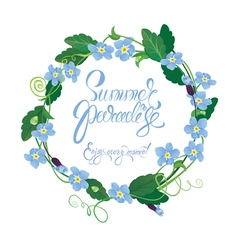 forget me not round frame 380 vector image vector image