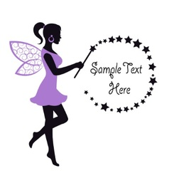 Graceful fairy with a magic wand vector
