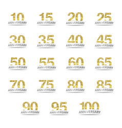 Isolated golden glitter numbers with word vector