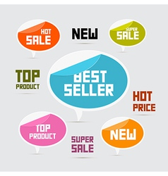 Labels Tags Stickers Best Seller New Super Sale vector image