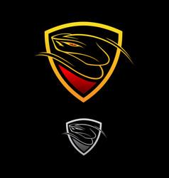 logo design viper shield vector image