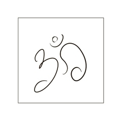 Om sign painted by hand The sacred symbol in vector image