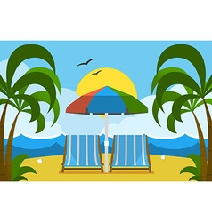 palm beach vector image