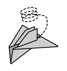 Paper plane project start up line dotted vector