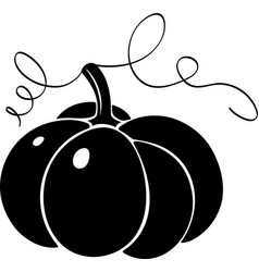 pumpkin silhouette vector image
