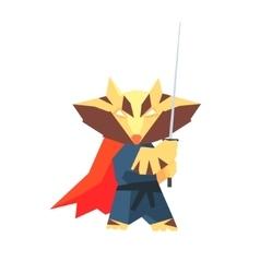 Raccoon super hero character vector