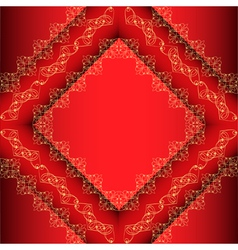 Red Ornamental Frame Background vector image vector image