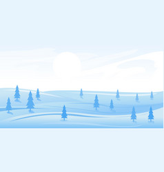simple winter landscape vector image