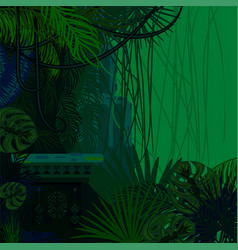 Tropical spinney foliage jungle nature background vector
