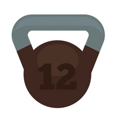 Weight with 12 kg in brown and grey colors vector