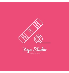 Yoga mat logo vector
