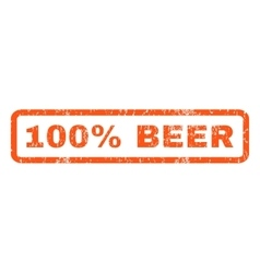100 percent beer rubber stamp vector