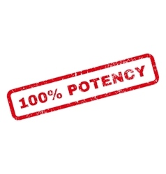 100 Percent Potency Text Rubber Stamp vector image