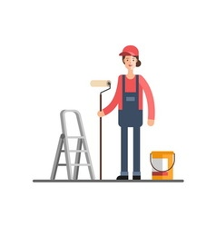 House repair painting services vector
